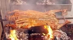 三圣乡白鹭湾农家乐特色推荐——篝火晚会,碳烤全羊