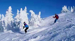 刺激的滑雪项目
