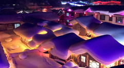 夜晚的雪乡