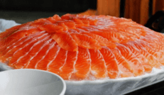 虹鳟鱼生鱼片