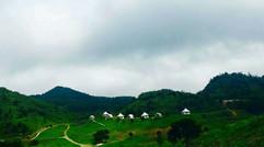 大山中的帐篷客房