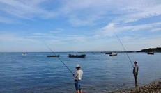 海 邊 垂 釣