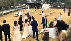三圣乡农家乐户外草坪婚礼场地
