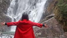 我在旺溪瀑布前等着你